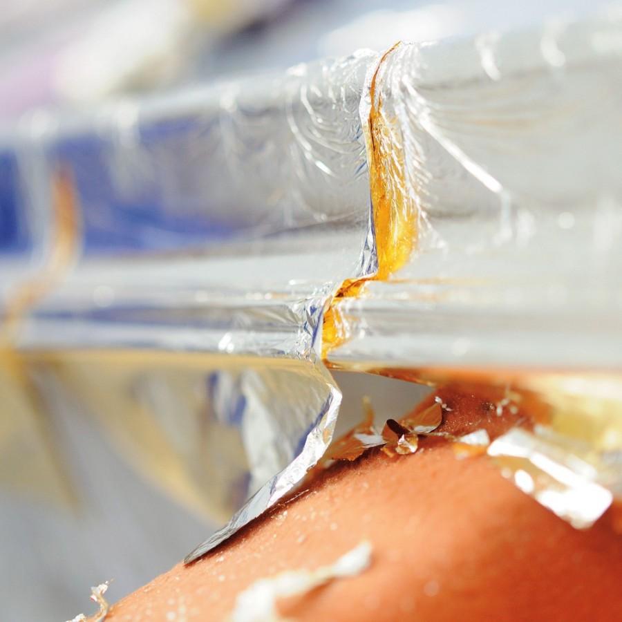 Płatki ze złota i srebra, schlagmetall, aluminium